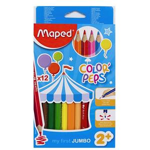 Pastelky MAPED 12 Color Peps Jumbo - trojhranné
